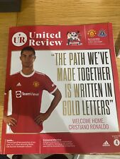 More details for manchester utd fc ronaldo programme (first game) and mufc washbag
