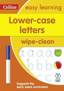 Lower Case Letters Wipe Clean Activity Book Preschool Practice Learning Writing