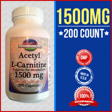 Acetyl L-Carnitine 1500mg Energy- Chronic Fatigue- Focus- 200 caps USA