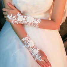 GIRLS White/Ivory SATIN-FLOWER GIRL GLOVES-CONFIRMATION-WEDDING-COMMUNION lady