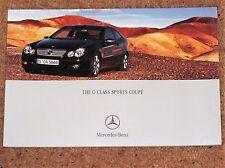 2004 MERCEDES BENZ C-CLASS SPORTS COUPE Sales Brochure - 230K 200K 180K 320 CDI