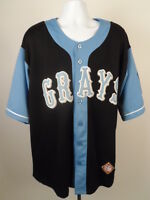 Grays Baseball Uniform 20 NLBM XXL 2XL Negro Leagues Baseball Museum Black Blue