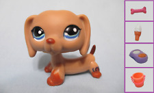 Littlest Pet Shop Dog Dachshund Weiner 1211 Free Accessory Exclusive US Seller