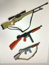 plastic toy long guns for (1/6) action figures - lot of 3 - high quality