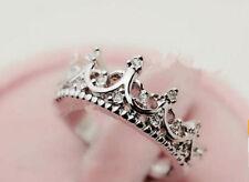 2014 Korean Style Hollow Caving Queen Crown Crystal Ring Elegant Women Fashion