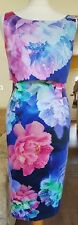 STUNNING COAST BLUE FLORAL PENCIL MIDI DRESS 14