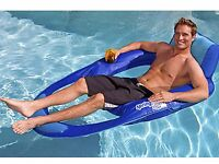 SwimWays Spring Float Recliner XL Floating Swimming Pool Lounge Chair