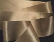 "2"" Wide Double Face Silk Satin Ribbon - Tan"