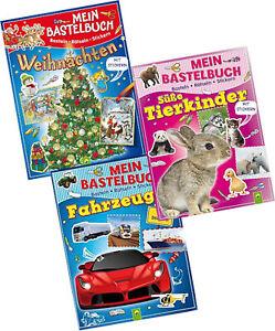 Bastelbuch Weihnachten Autos Tierkinder Basteln Backen Malen Rätseln Sticker