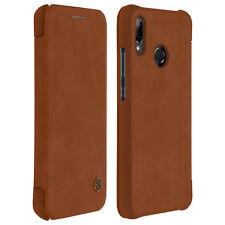 Housse Huawei P20 Lite Etui Cuir Série Qin Nillkin Clapet Porte-Carte Marron