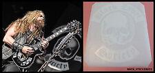 Black Label Society guitar stickers Zakk Wylde skull vinyl decal