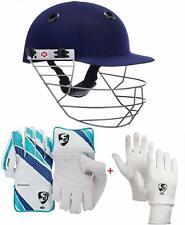 SS Prince Helmet Medium & SG Club Wicket Keeping Gloves for Men Size