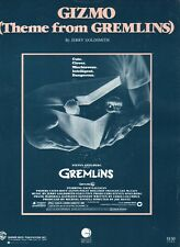 Gizmo 1985 GREMLINS Movie JERRY GOLDSMITH Sheet Music!