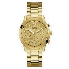 Guess Women's Solar Gold Dial Chronograph Watch W1070L2 (BNIB)