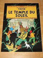 TINTIN TIM UND STRUPPI POSTER - LE TEMPLE DE SOLEIL / DER SONNENTEMPEL PLAKAT