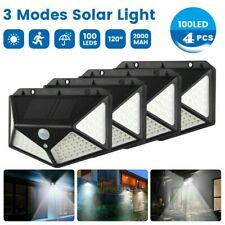4PACK 100 LED Solar Light Motion Sensor Lights Outdoor Garden Security Wall Lamp