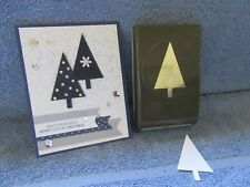 stampin up TREE PUNCH-outdoors-Christmas-lot + card