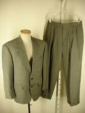mens 38S 38 S Oxxford Clothes Gray 100's Tweed 2-pc 2-button suit pants 31 X 29