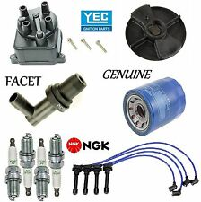 Tune Up Kit Filters Cap Rotor Spark Plugs Wire for Honda Accord L4; 2.2L 1990-1991 O.E.M. Recommended