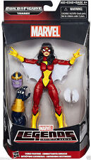 """SPIDER-WOMAN ( 6"""") FIERCE FIGHTERS MARVEL LEGENDS THANOS SERIES ACTION FIGURE #6"""