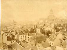 Belgique, Bruxelles, Vue générale sur la ville  Vintage albumen print  Tir