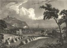 KENT: Dover from Priory Field: Holtum Cooperplate view; antique print 1820