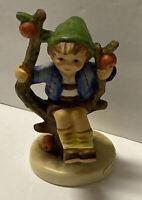 """Vintage Goebel Hummel Figurine Apple Tree Boy Sitting On Apple Tree Branch  4"""""""