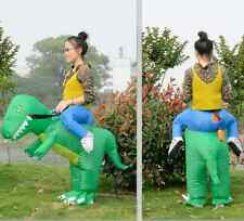 Kids Inflatable T-Rex Dinosaur Fancy Dress Unisex Party Costume Suit Dino Rider
