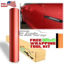 "60""x600"" Premium High Gloss Glitter Red Sparkle Car Vinyl Wrap Sticker Decal"