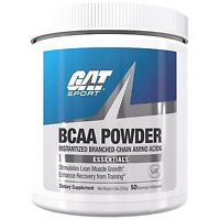 GAT BCAA POWDER 250g Unflavored Amino Acids - 50 Servings BUILD MUSCLE, RECOVERY