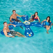 Pool Bar Floating Lounge Party Inflatable Chair Swimming Beverage Holder Raft
