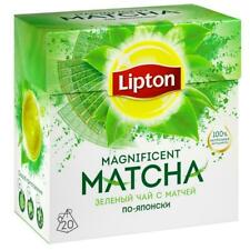 Green tea with matches Lipton Magnificent Matcha 20 pyramids x 3 boxes