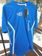 Nwt Adidas Performance Men's L Blue Ventilated Quick Dry Athletic Shirt Top