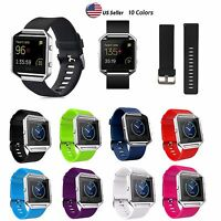 Replacement Silicone Rubber Sport Band Strap Watchband For Fitbit Blaze Watch