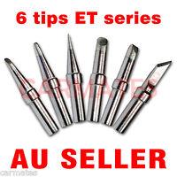 6PCs Solder Rework Soldering Station Iron Tips for Weller PES51 WES51 WESD51 OZ