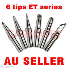 6PCs Solder Rework Soldering Station Iron Tips for Weller PES51 WES51 WESD51 OZ