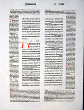 BIBLIA LATINA BIBELBLATT RUSCH FÜR KOBERGER PROPHET JEREMIAS INITIALEN 1481
