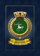 HMS CENTAUR SHIPS BADGE/CREST - HUNDREDS OF HM SHIPS IN STOCK