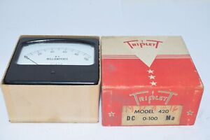 NEW TRIPLETT 420 DC 0-100 Ma DC Amps Panel Meter Gage