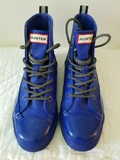 hunter for target bootsM7/W9 man made materials  waterproof  blue 6in ankle 7eye