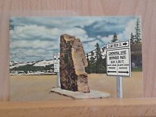 Linen post card view of the Continental Divide on US-40
