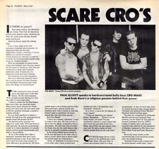 9/5/87pg16/17 Vintage Article & Picture, The Cro-mags