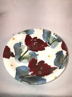 Royal Stafford Bowl Iris And Poppy Pattern Poole Pottery 7 In
