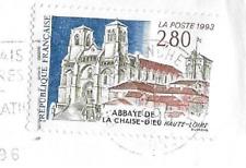 1993  TIMBRE ABBAYE DE LA CHAISE DIEU N° 2825 OBLITÉRATION CACHET ROND