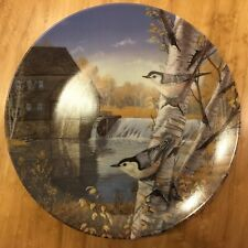 "Knowles ""Nuthatches In Fall� Plate - Birds Of The Seasons Collection by Sam Timm"
