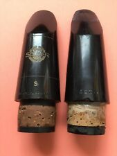 Selmer S And Beechler Two Piece Clarinet Mouthpiece Lot Damaged