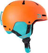 Retrospec Traverse H3 Youth Ski & Snowboard Helmet, Matte Tangerine & Teal SMALL