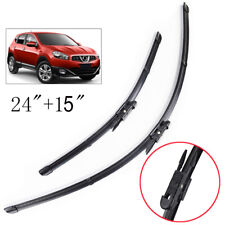 Front Windshield Wiper Blades For Nissan Qashqai 2007 2008 2009 2010 2011 2012