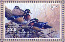 CANADA 2018 DUCK STAMP MINT IN FOLDER AS ISSUED WOOD DUCKS by Pierre Girard