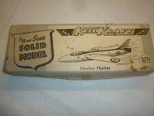 Keil Kraft  un-built balsa wood kit of a  Hawker Hunter,  Boxed